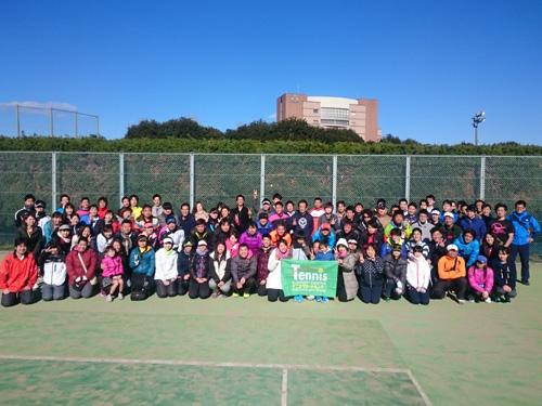 facebook100人練習会(昭和の森) 「テニスを通じて友人を増やすこと」
