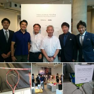 【TOALSON・roche展示会】訪問!村上プロ・小野田プロ・吉崎アナウンサー