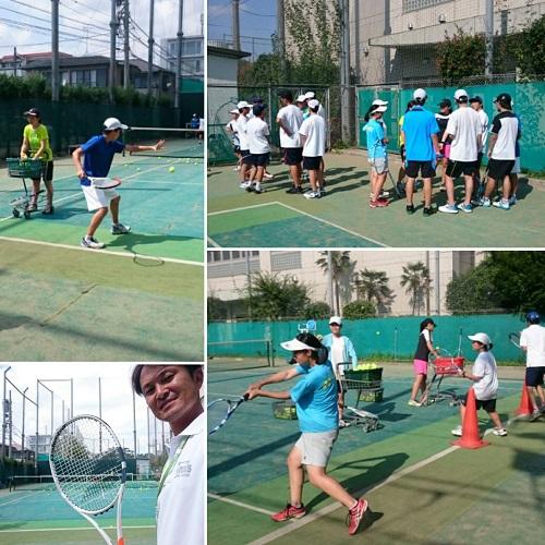 【部活応援】都立目黒高等学校テニス部 練習サポート
