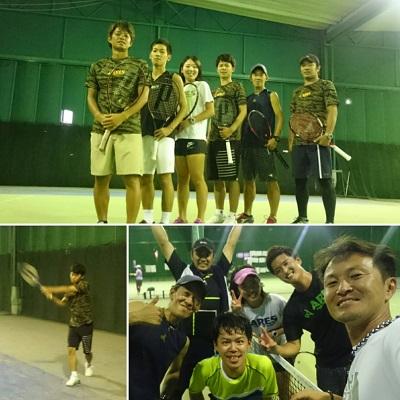 アマチュアテニスチームの「ARES(アレス)」練習会&PV作成!