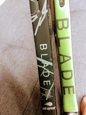 """【#新作 #並べてみた】話題の新作ラケットを・・・並べてみました!""""Wilson BLADE V8"""""""